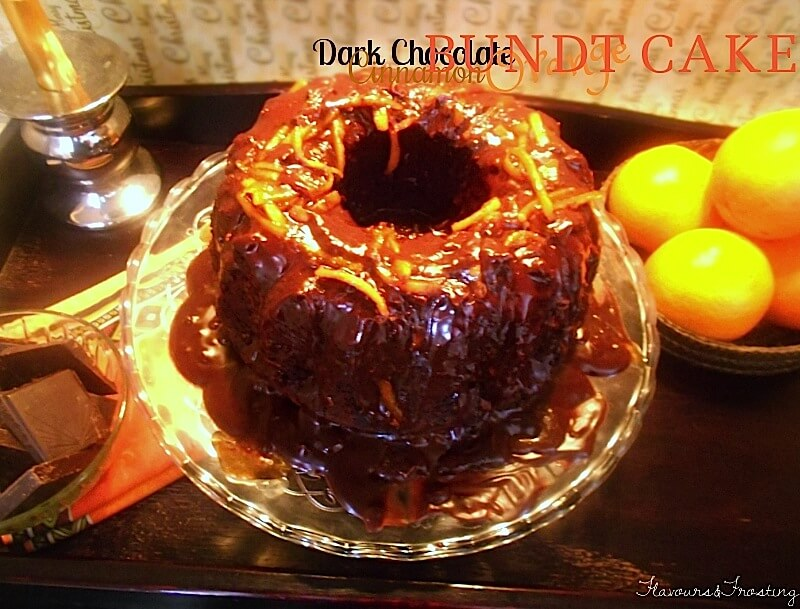 dark chocolate orange bundt cake, bundt cake, chocolate cake, how to make bundt cake