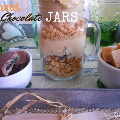 Caramel and Mint Chocolate Jars