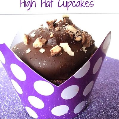 Chocolate Peanut Butter High Hat Cupcakes