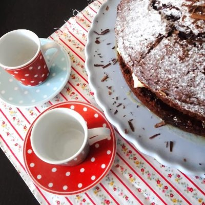 Pear Cardamom and Chocolate Cake