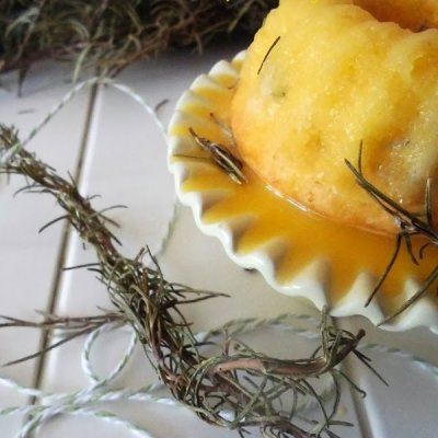 Lemon Rosemary and Honey Bundt Cake