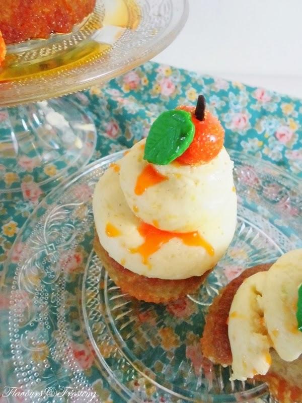 Orange Cardamom Cake, orange cupcakes, cardamom cupcakes