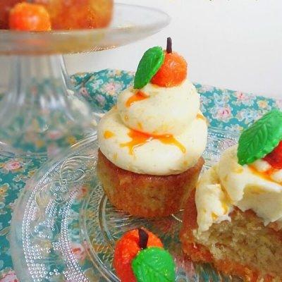 Orange Cardamom Cake plus cupcakes