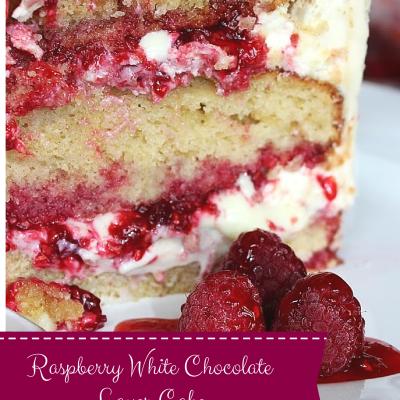 Raspberry White Chocolate Layer Cake