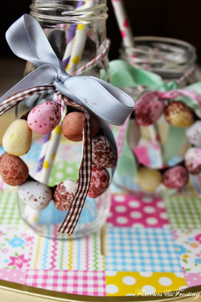 Mini easter egg decorations - Mini WREATHS made with Cadbury mini Easter eggs | FlavoursandFrosting.com