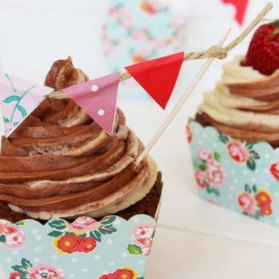 Chocolate Vanilla Swirl Cupcakes