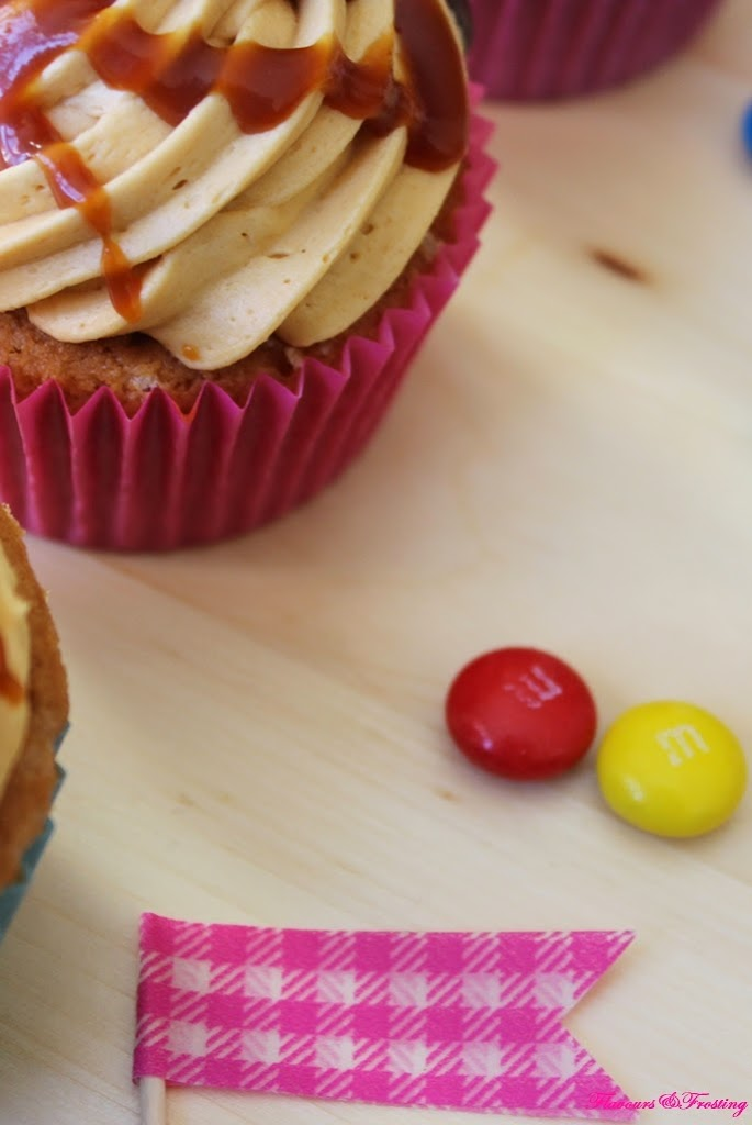 Peanut Butter Caramel Cupcakes