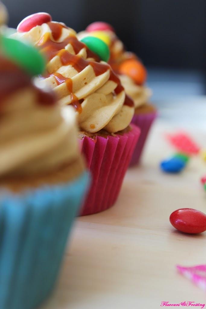 Peanut Butter Caramel Cupcakes, Easy Cupcake Recipe