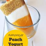 Peach Yoghurt Tart Popsicles