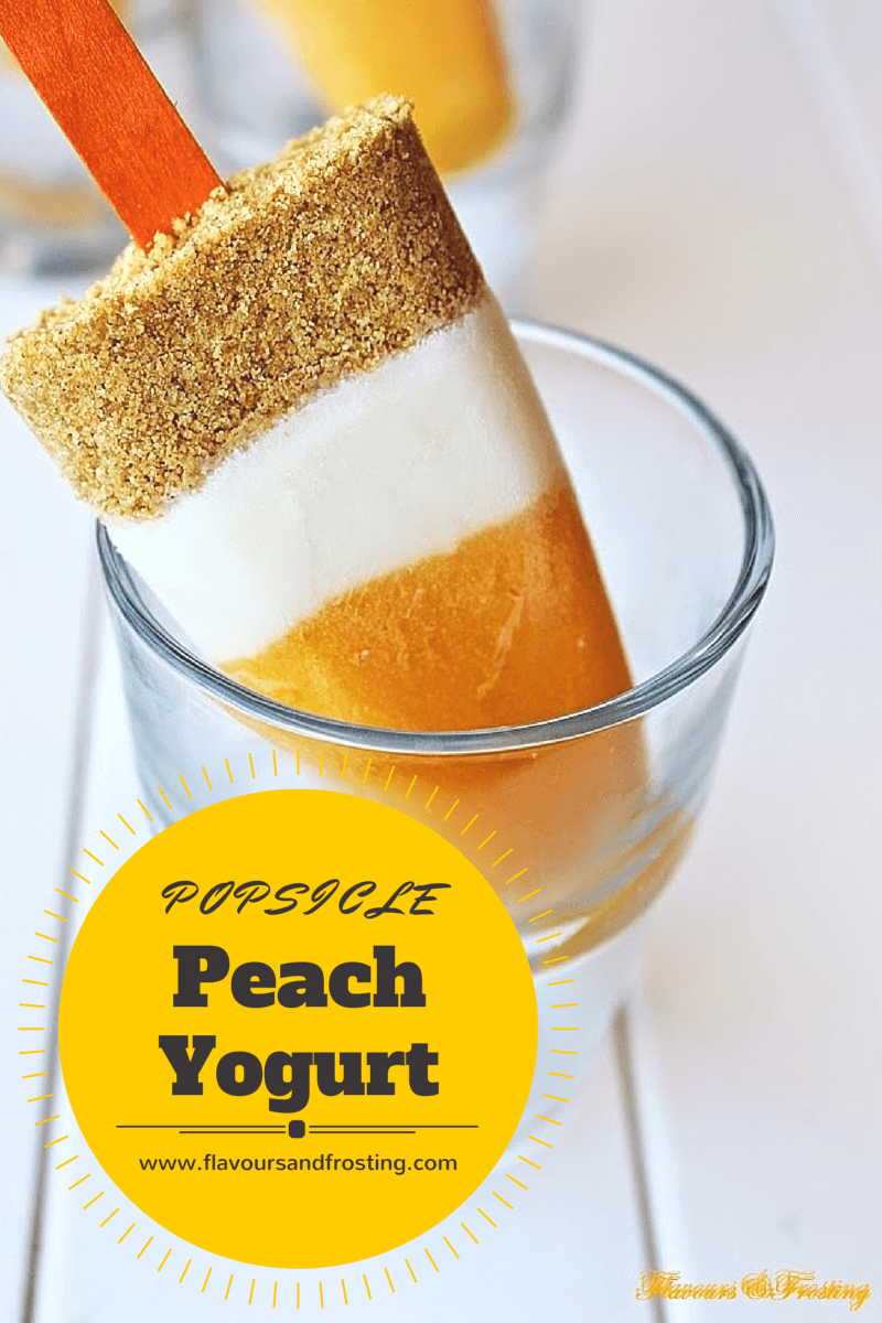 peach yogurt tart, popsicles, popsicle, popsicle recipe