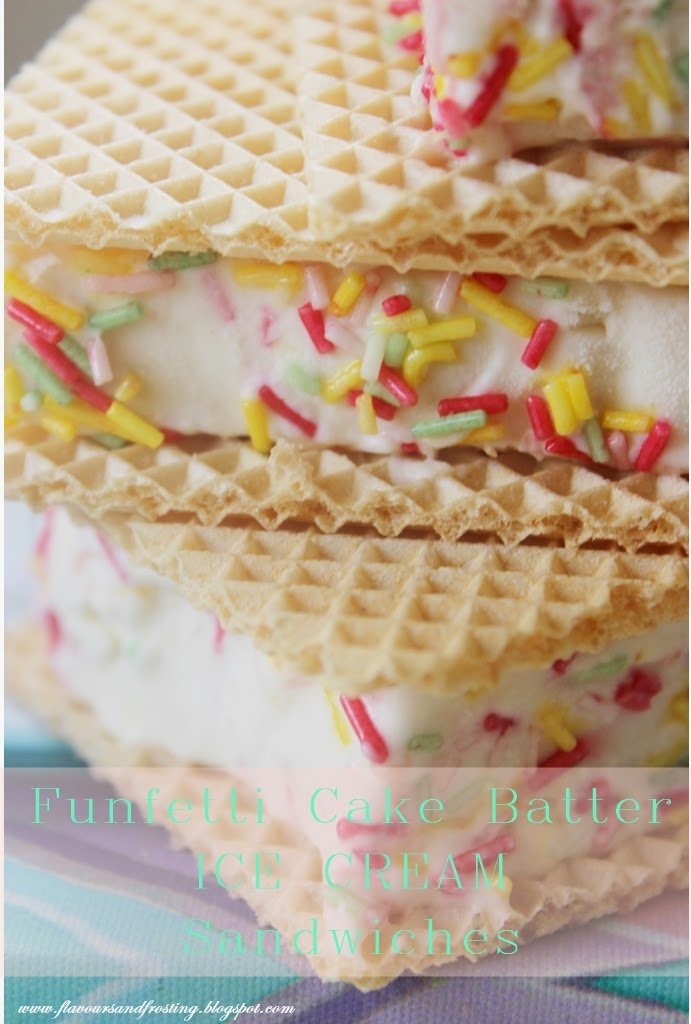 Funfetti Cake Batter Ice Cream Sandwiches