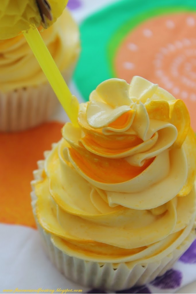 Preserved Peaches Brandy Cupcakes