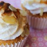 Cherry Almond Cupcakes | Italian Meringue Frosting