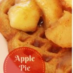 Apple Pie Waffles with fresh whipping cream