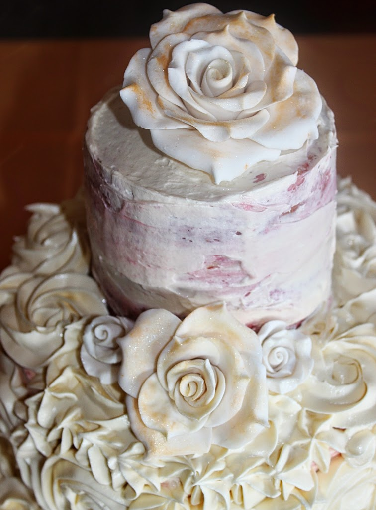 Wedding Cake  - Vintage Rose