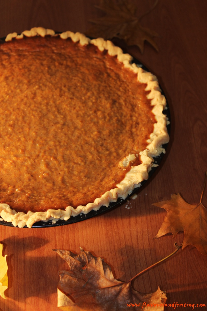 Easy Homemade Pumpkin Pie made with a super easy and fast homemade crust!