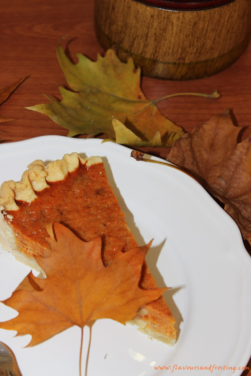 Easy Homemade Pumpkin Pie made with sweetened condensed milk