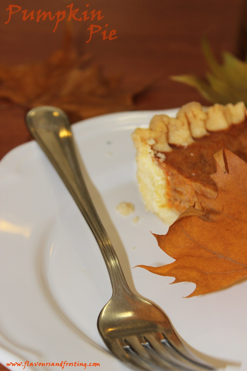 Easy Homemade Pumpkin Pie made with sweetened condensed milk and a super easy and fast homemade crust!