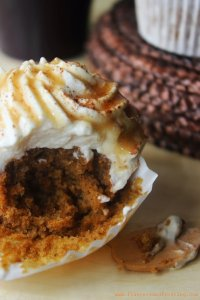 Pumpkin spice latte cupcakes based on the popular Starbucks pumpkin spice latte