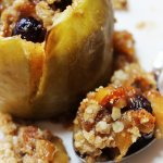 Baked Stuffed Apple Crisp Recipe (flavored with cranberries, orange and spices)