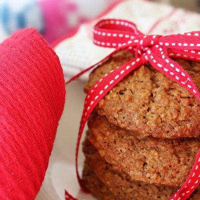 Pumpkin Oatmeal Cookies with cranberries