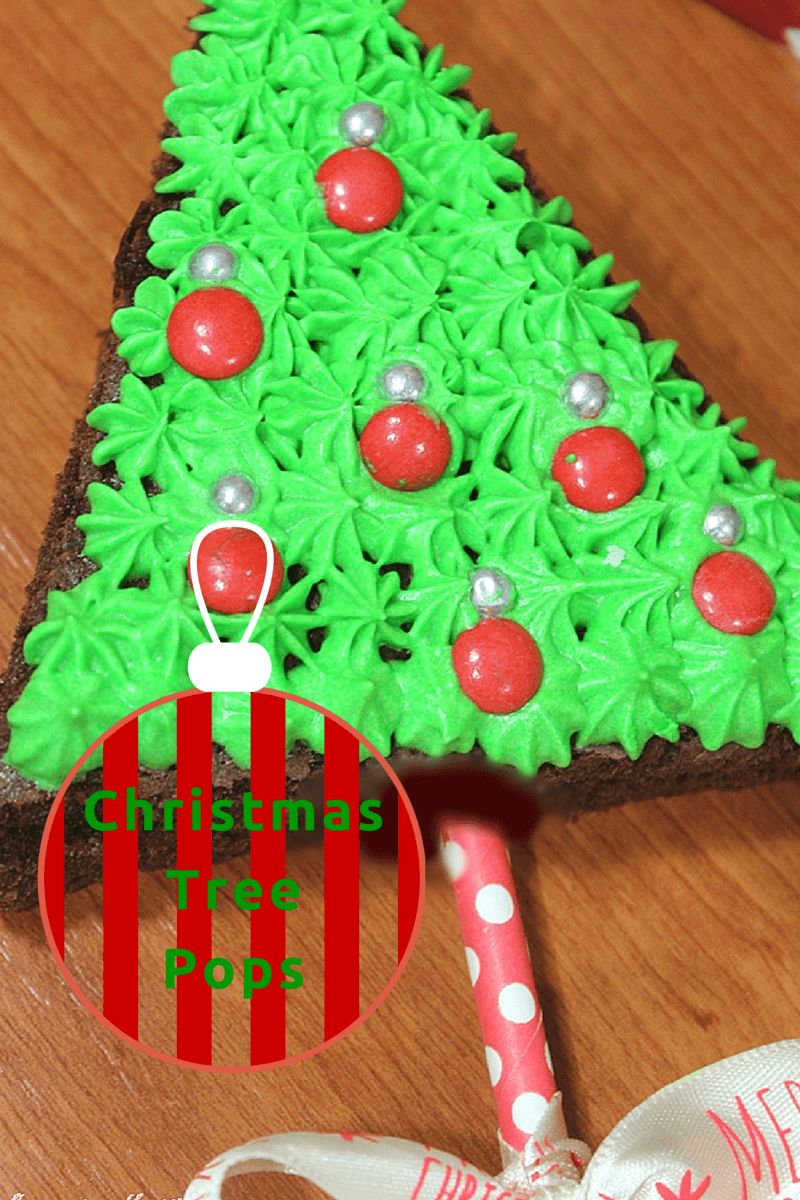 Christmas Tree Pops, Brownie Pops, DIY Christmas Gifts, Christmas Treats