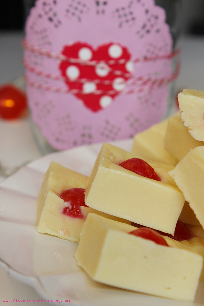 Fudge de cereza y almendra|post de San Valentín