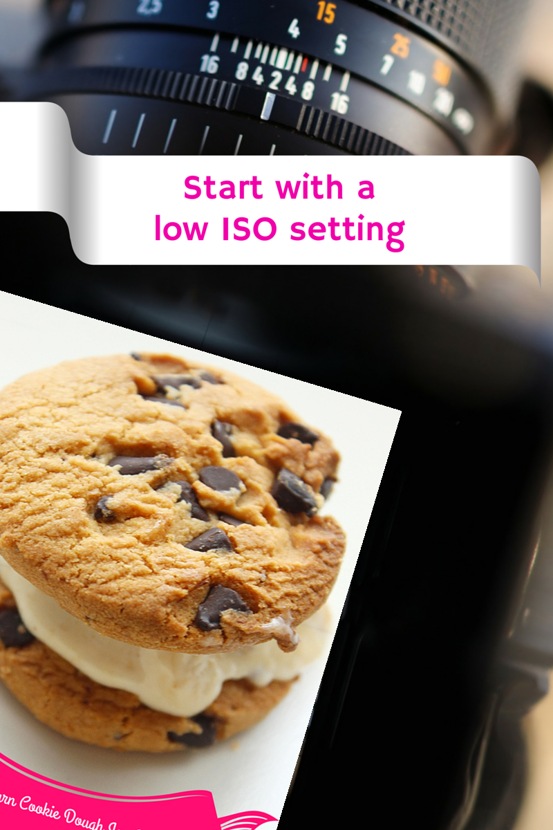 start with a low iso setting in food photography
