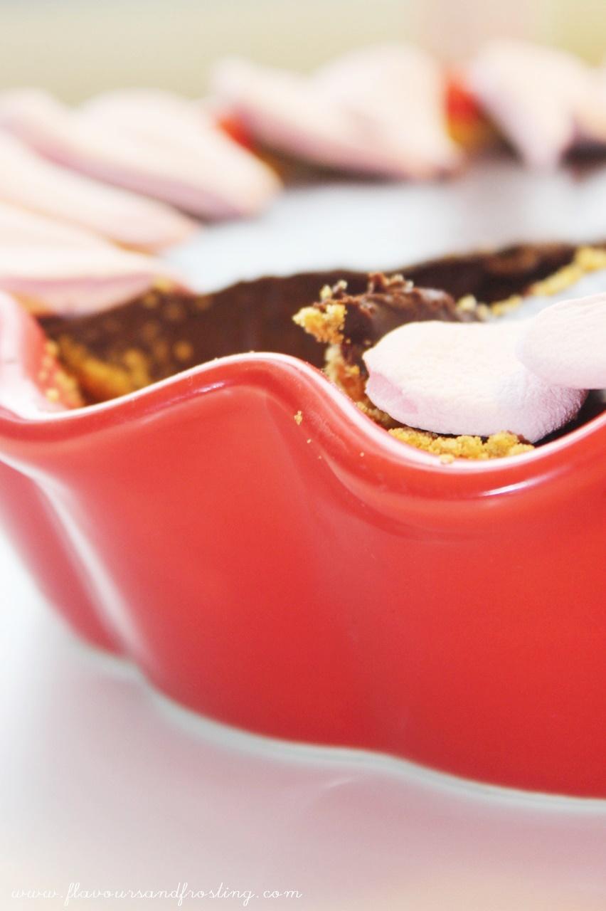 Pie de Chocolate para el día de San Valentín
