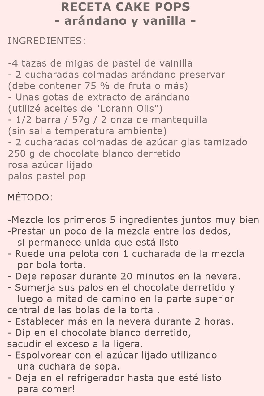 RECETA CAKE POPS | Arándano y Vainilla