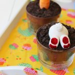 Oreo Brownie Dessert Pots for Easter|Fondant Bunnies and Carrots