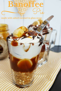 Banoffee Pie dessert in a glass
