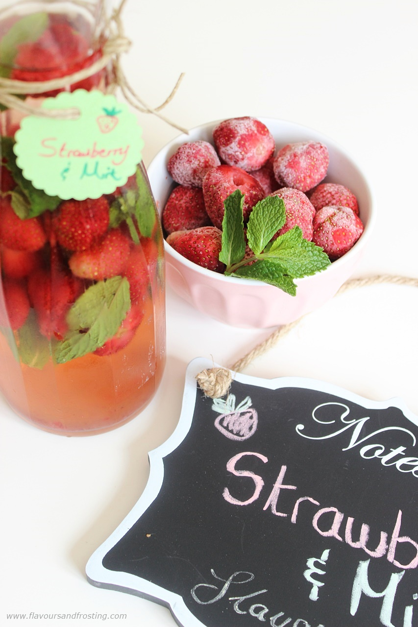strawberry flavored water recipe