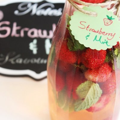 Strawberry Mint Flavored Water Recipe