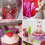 Strawberry Themed Party with Decorations and Strawberry Sponge Cake