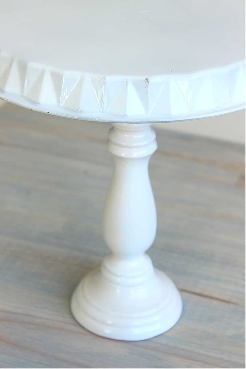 single tier cake stand, one tier cake stand, shabby chic cake stand, 1 tier cake stand