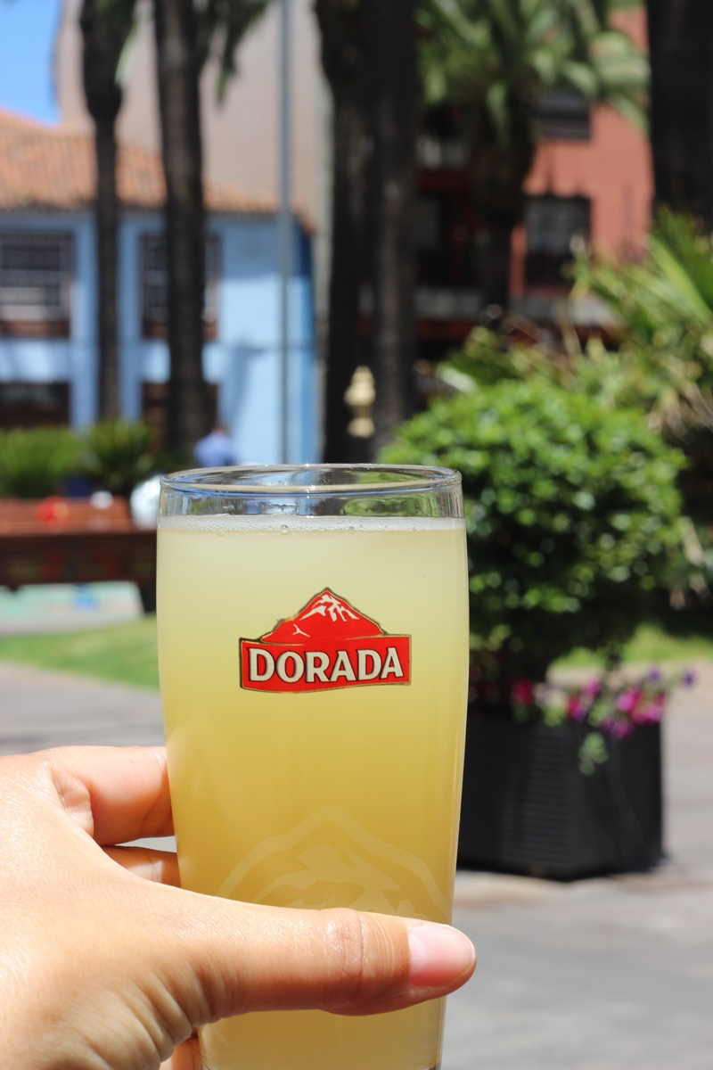 Dorada local lemon flavored Beer in Tenerife Canary Islands