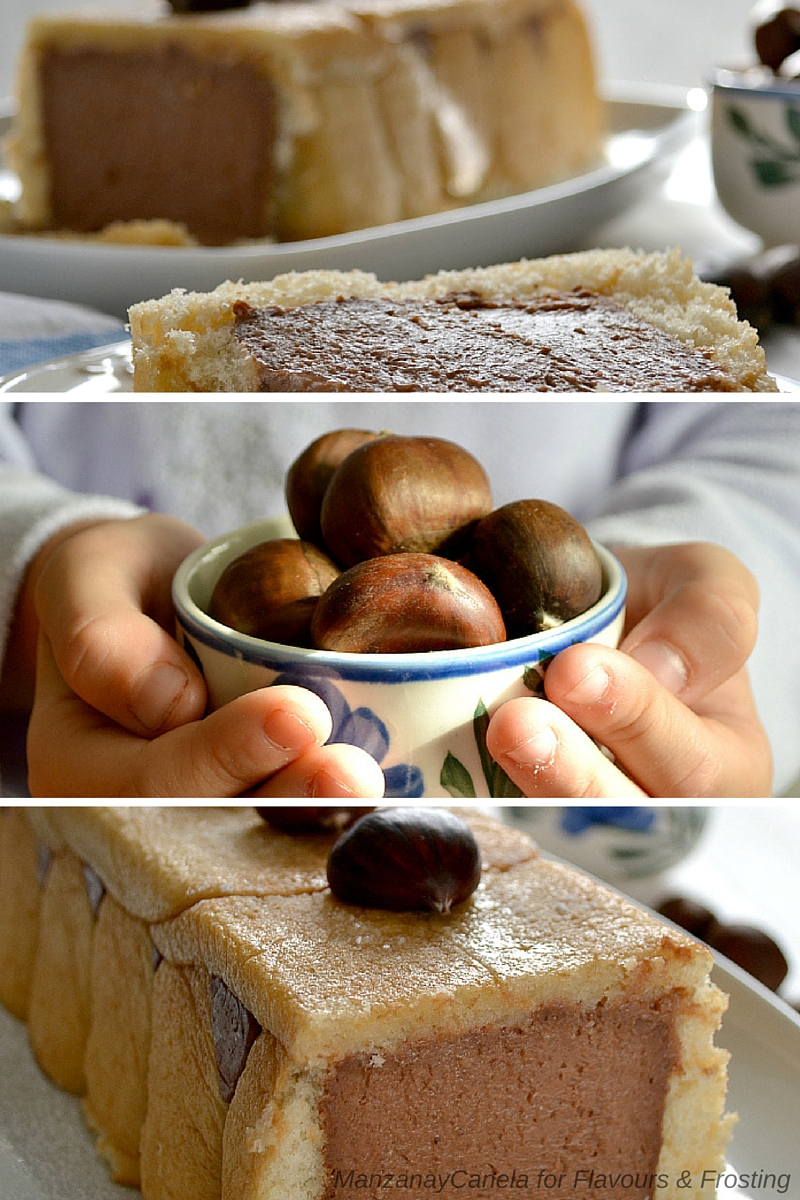 Chestnut Chocolate Cake. Chestnuts are typical during the Fall in Spain.