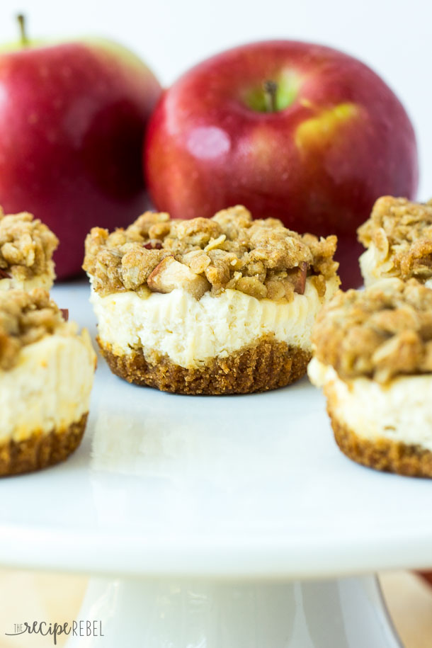 Fall Apple Recipes: Fruit Crisp Cheesecakes made with apples