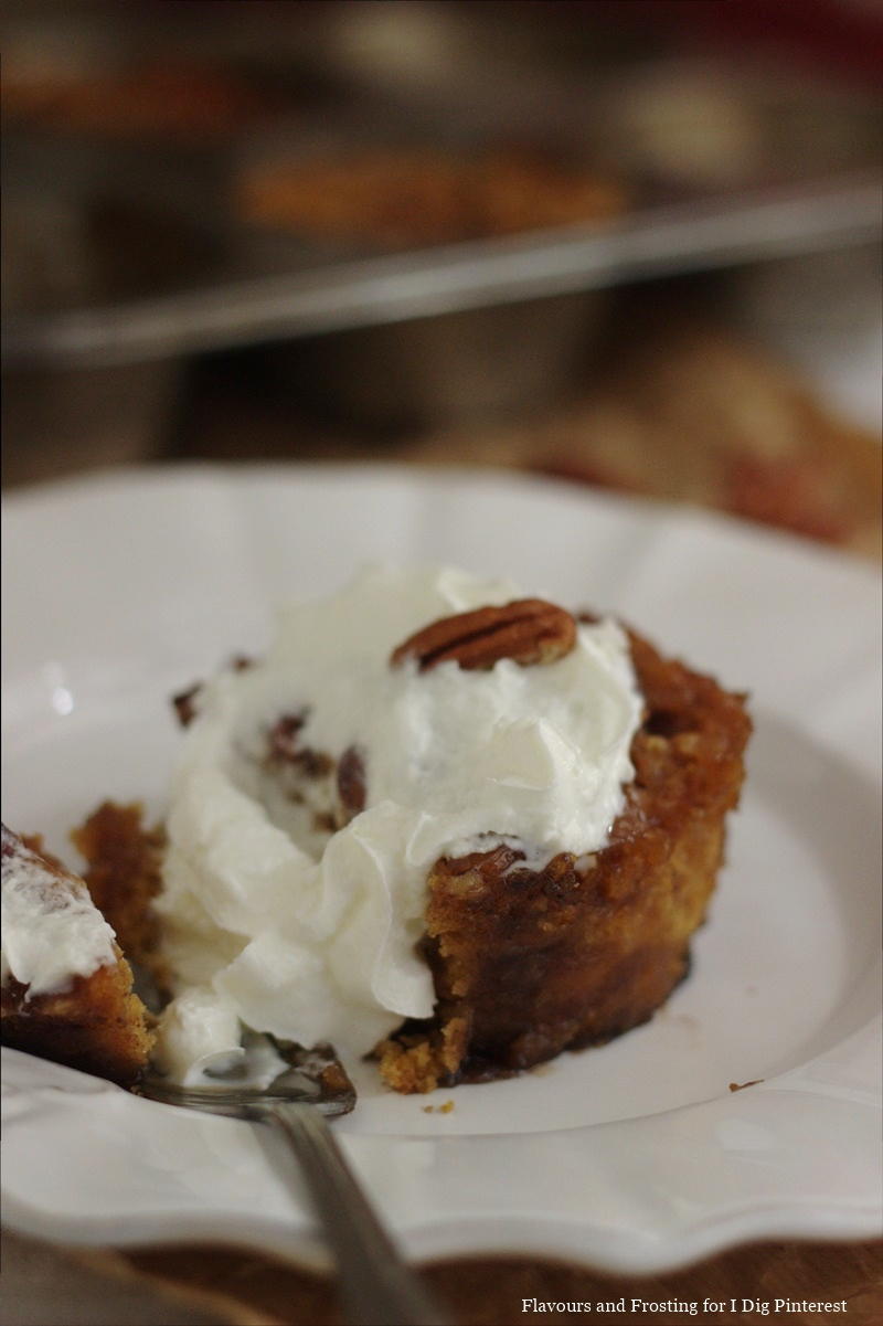 made of sweet potato pudding with a brown sugar and pecan nut topping ...