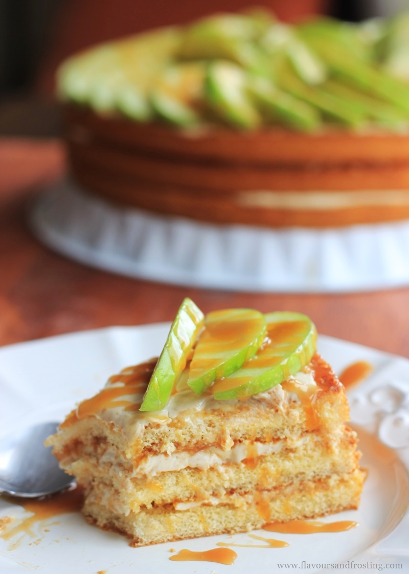 apple caramel cream cheese cake