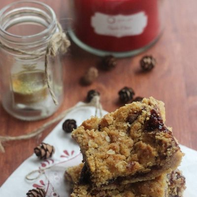 Black Cherry Oatmeal Bars + Cookbook Giveaway!