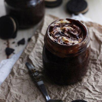Chocolate Peanut Butter Oreo Jar Cakes
