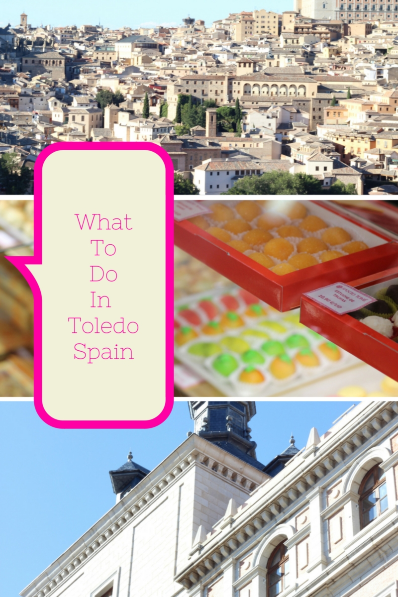 What to do in Toledo Spain (Castilla-La Mancha in central Spain)? We visit the famous pastilería Santo Tomé where marzipan is artfully handcrafted into works of art that taste so good because of their natural ingredients: almonds, honey, sugar and eggs.
