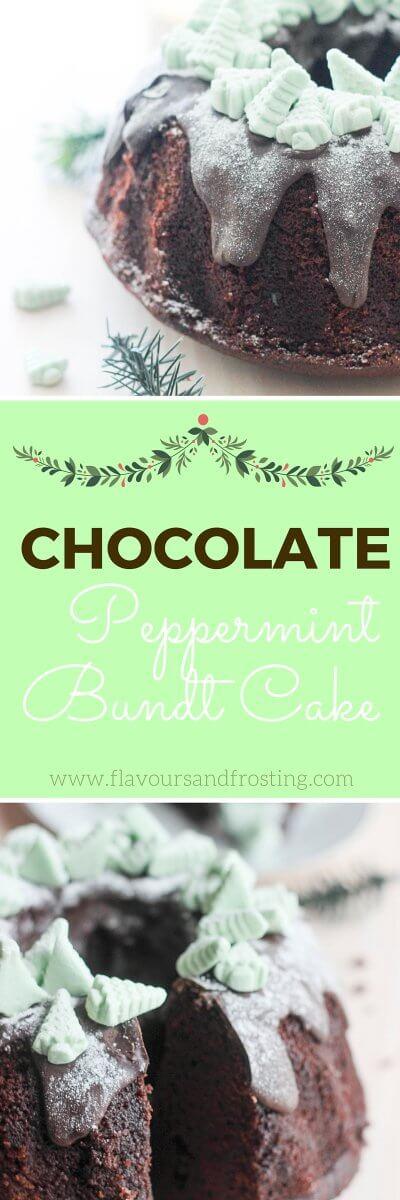 Chocolate Peppermint Bundt Cake | FlavoursandFrosting.com
