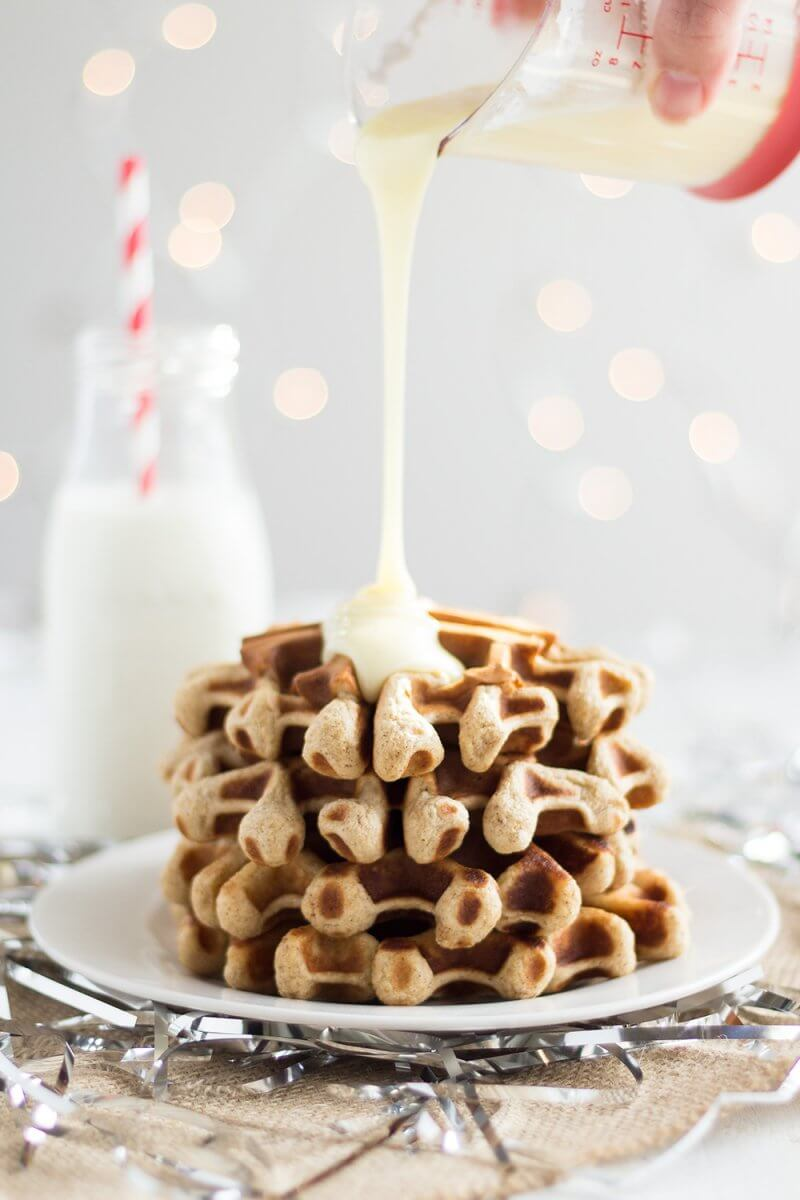 Egg Nog Waffles. 10 Fantastic Food bloggers worked together to create the PROJECT CHRISTMAS COOKBOOK with 20 easy, impressive Holiday recipes, from drinks to side dishes to desserts, And we´re selling it for only $8!!! AND AND 100% OF THE PROCEEDS WILL BE DONATED TO THE NO KID HUNGRY CAMPAIGN!!!