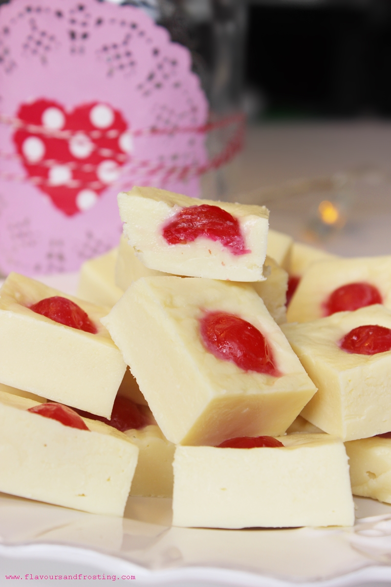 Super easy recipe to make Cherry Almond Fudge