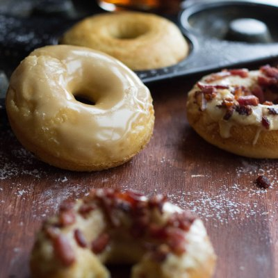 Baked Cake Maple Bacon Donuts