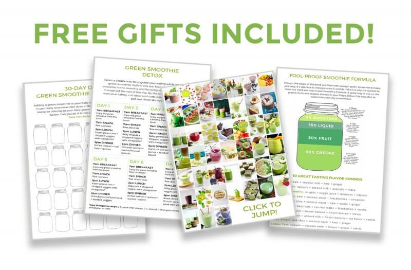 Free Gifts Included Green Smoothie Book