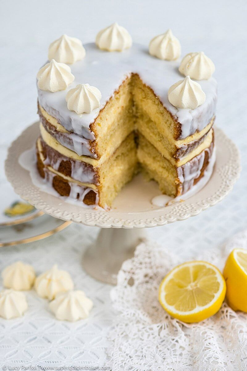 Gin Passionfruit and Lemon Layer Cake| Layer Cakes for Easter round-up on FlavoursandFrosting.com